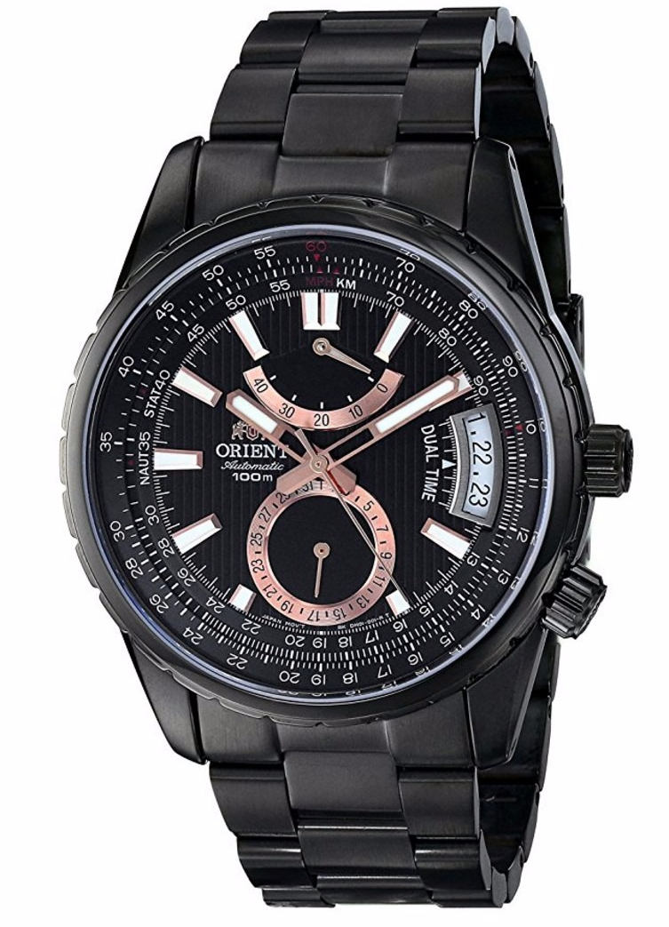 ORIENT EXECUTIVE VOYAGER FDH01001B AUTOMATICO DUAL TIME CRISTAL ZAFIRO
