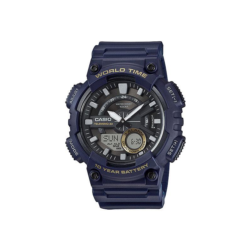 Reloj hombre CASIO AEQ-110W-2A  WORLDTIME - 10 AÑOS BATERÍA