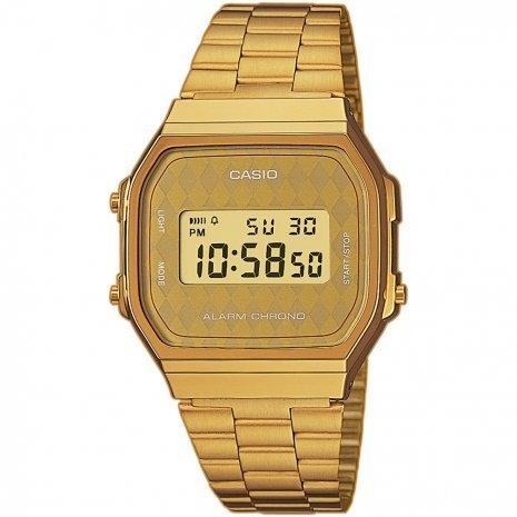 Reloj casio collection A168WG-9BW retro GOLD UNISEX