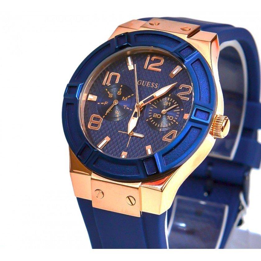 Reloj mujer Guess u0571l1 azul – oro rosado