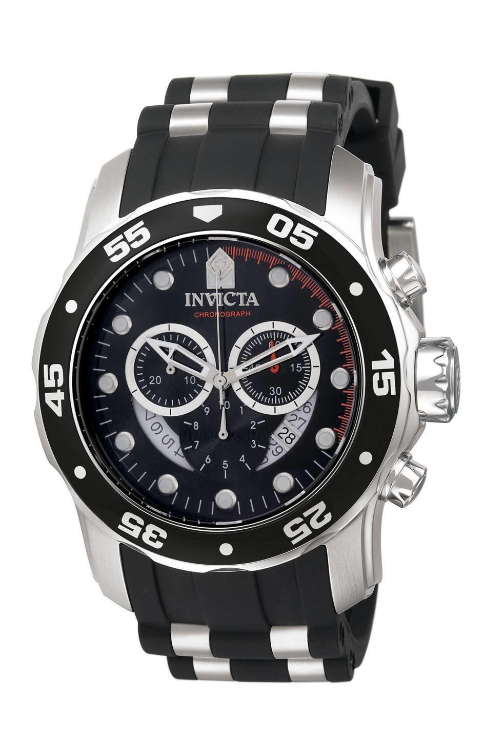 reloj hombre INVICTA PRO DIVER 6977 crono dial negro - correa poliuretano