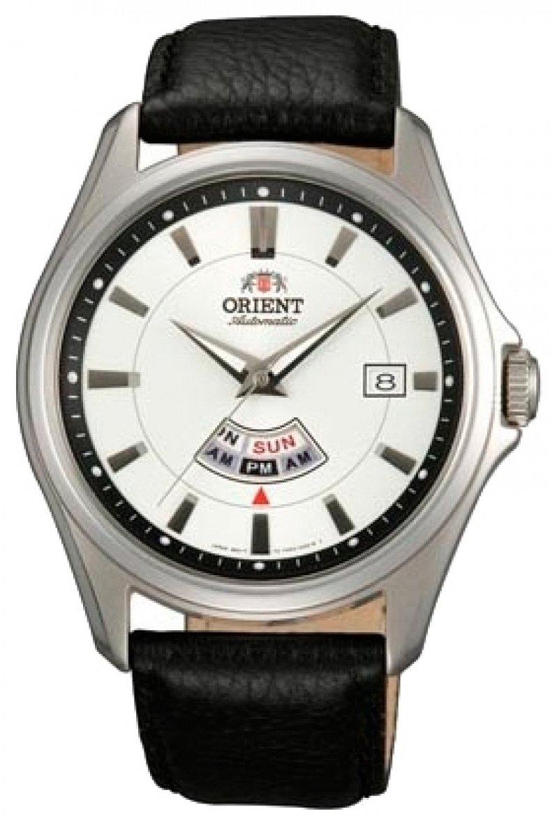 Reloj hombre automático ORIENT FFN02005w correa cuero dial blanco