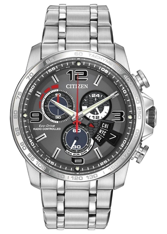 reloj hombre Citizen Eco-Drive A-T Men's watch BY0100-51H Chronograph Alarm ENERGIA SOLAR