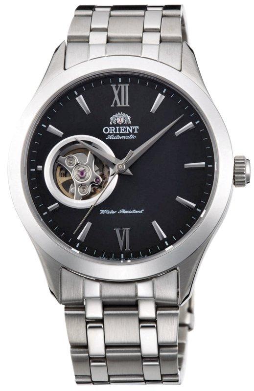 Reloj hombre automático Orient FAG03001B GOLDEN EYE Skeleton correa acero dial negro