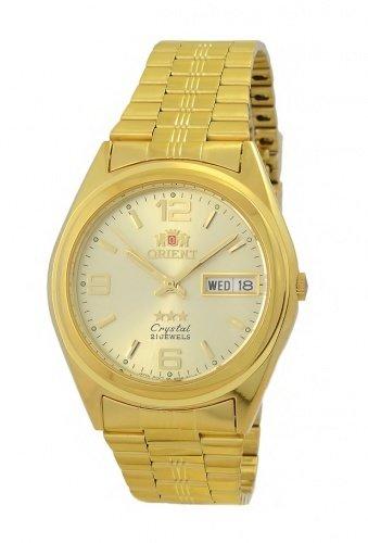 Reloj UNISEX automático Orient 3 Star FAB04001C9 DORADO correa acero
