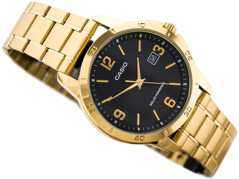 Reloj Casio MTP-VS02G-1A Men's Gold Solar Stainless Steel