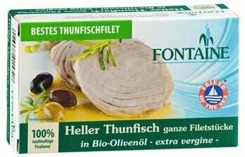 Thunfisch hell in Bio-Olivenöl, 120 g
