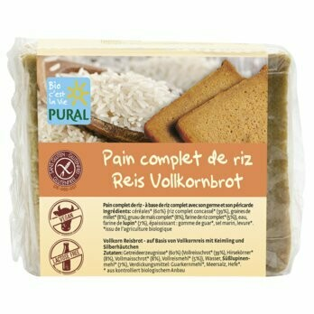 Reis Vollkornbrot glutenfrei, 375 g