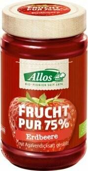 Frucht Pur 75% Aufstrich, Erdbeere, 250 g
