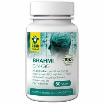 Brahmi Ginkgo Kapseln à 550 mg, 60Stk