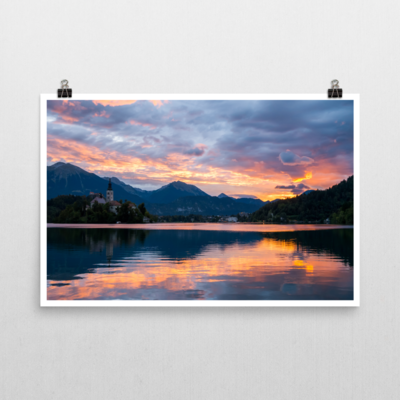 Sunrise over Lake Bled, Slovenia