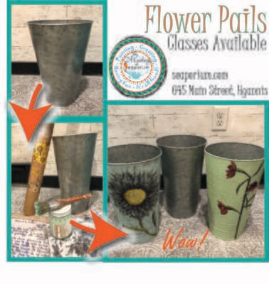 Flower Pail Class - Thursday 02/27/20 6-9 pm