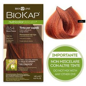 Biokap. Краска для волос (Delicato) тон 8.64 «Золотисто-каштановый», 140 мл