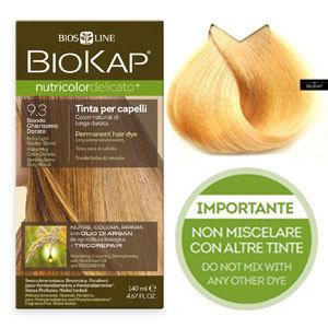 Biokap. Краска для волос (Delicato) тон 9.3 «Очень светлый золотой», 140 мл