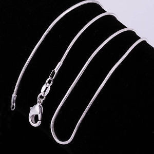 """925 Silver Plated Snake Chain 18"""""""