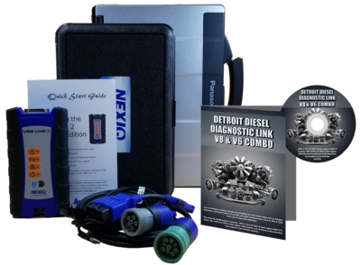 Detroit Diesel Diagnostic Link v8 & v6 Combo Professional License with NexIQ Scanner and Toughbook Dealer Package