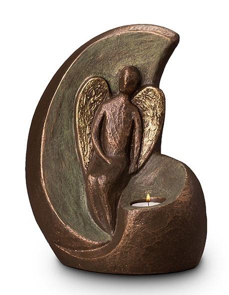 Urn Geborgen engel waxine