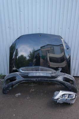 Капот, бампер и фара левая Mercedes Benz W222 (2013--)
