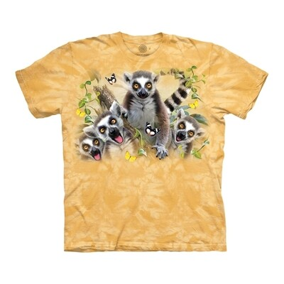 T-Shirt Lemur Family Selfie