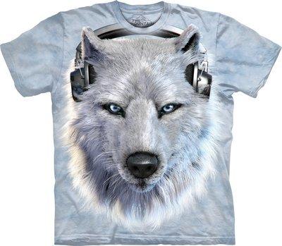 T-Shirt White Wolf DJ