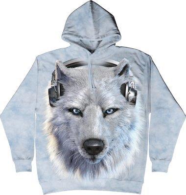 Hoodie White Wolf DJ