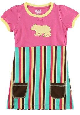 Bear Stripe T-Shirt-Klänning