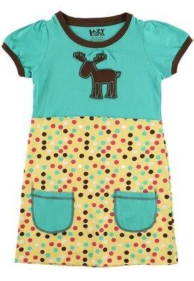 Polka Dot Moose T-Shirt-Klänning