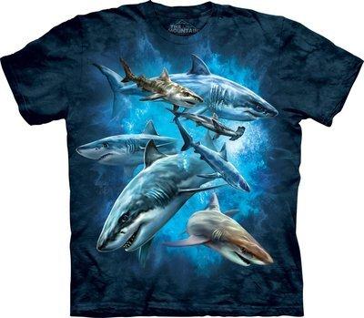 T-Shirt Shark Collage Kids