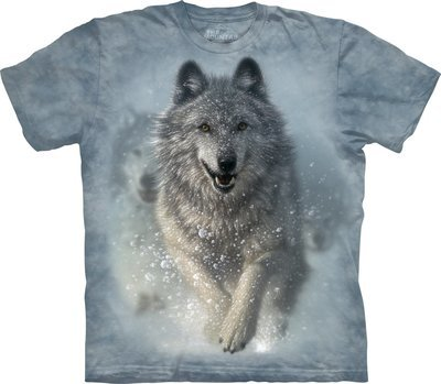 T-Shirt Snow Plow Wolf Kids