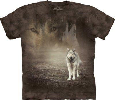 T-Shirt Grey Wolf Portrait Kids