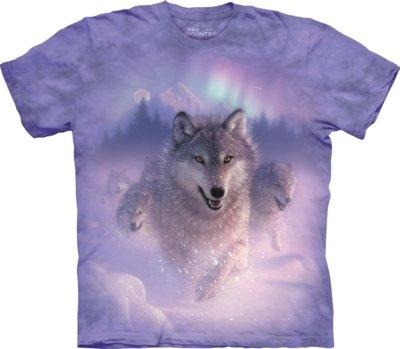 T-Shirt Northern Lights Wolves Kids