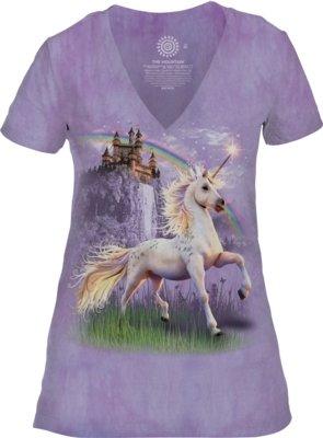 Unicorn Castle V-neck