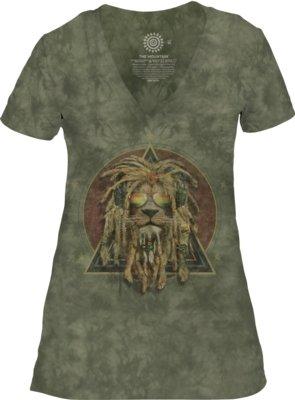 DJ Lion Retro V-neck