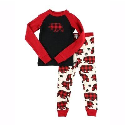 Allover Bear Check - Barnpyjamas