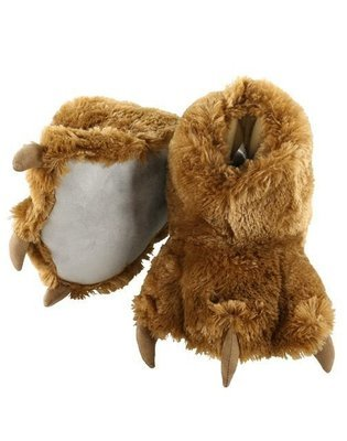 Brown Bear Paw Slippers