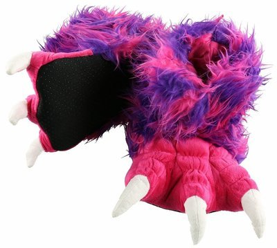 Pink & Purple Monster Paw Slippers