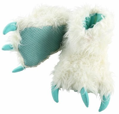 White Yeti Paw Slippers