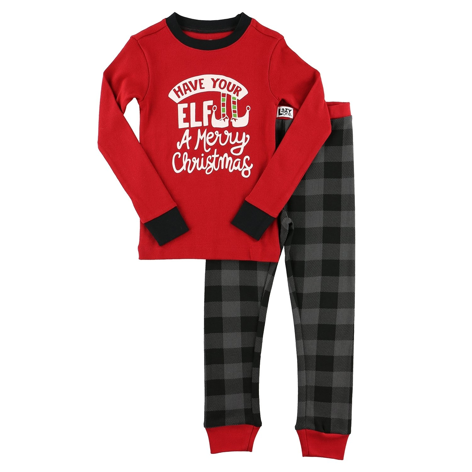 Elf Plaid Kids - PJ Set