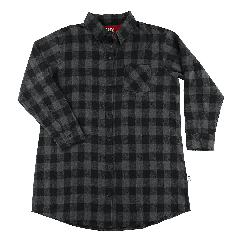 Grey Plaid Flanell Nattskjorta