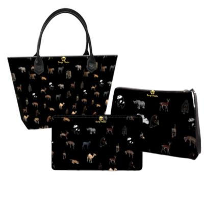Animal Print Handbag Set
