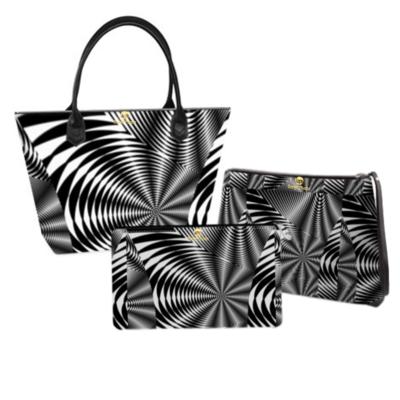 Black and White Abstract Handbag set