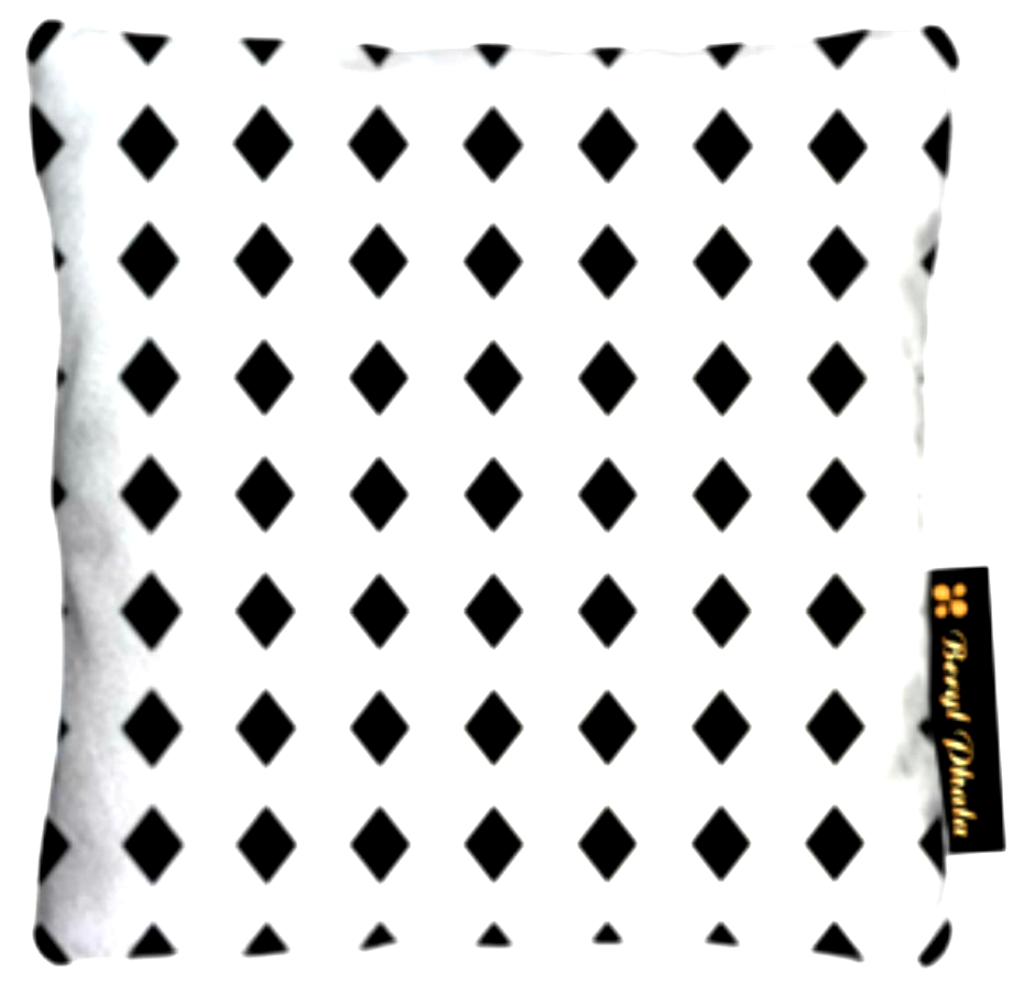 Cushion Black Diamonds Small Print Design