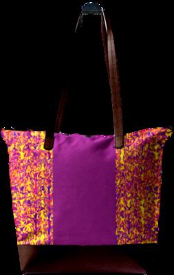 PURPLE PRINT DESIGN STATEMENT BAG