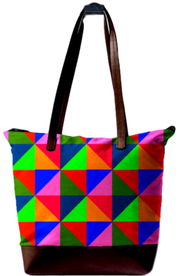ALL OVER PATCH PRINT DESIGN STATEMENT BAG