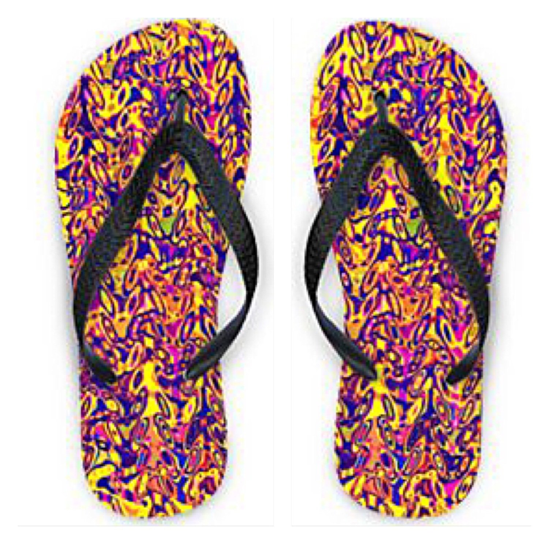 Flip Flops Multi Colour Print Design
