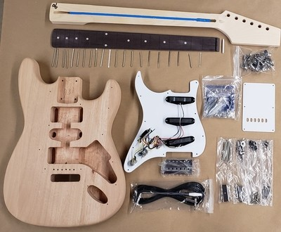 Class Pack  Economy Double Cut Guitar  Kit - 10 Pack - You Make It Neck