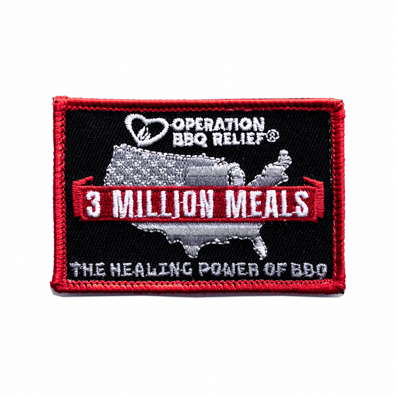 3 Million Meals - The Healing Power of BBQ - OBR 3MPatch