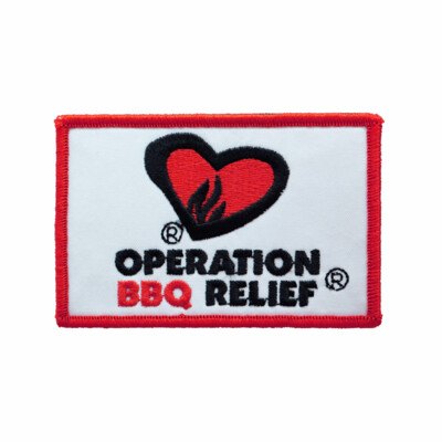 Operation BBQ Relief Patch - White
