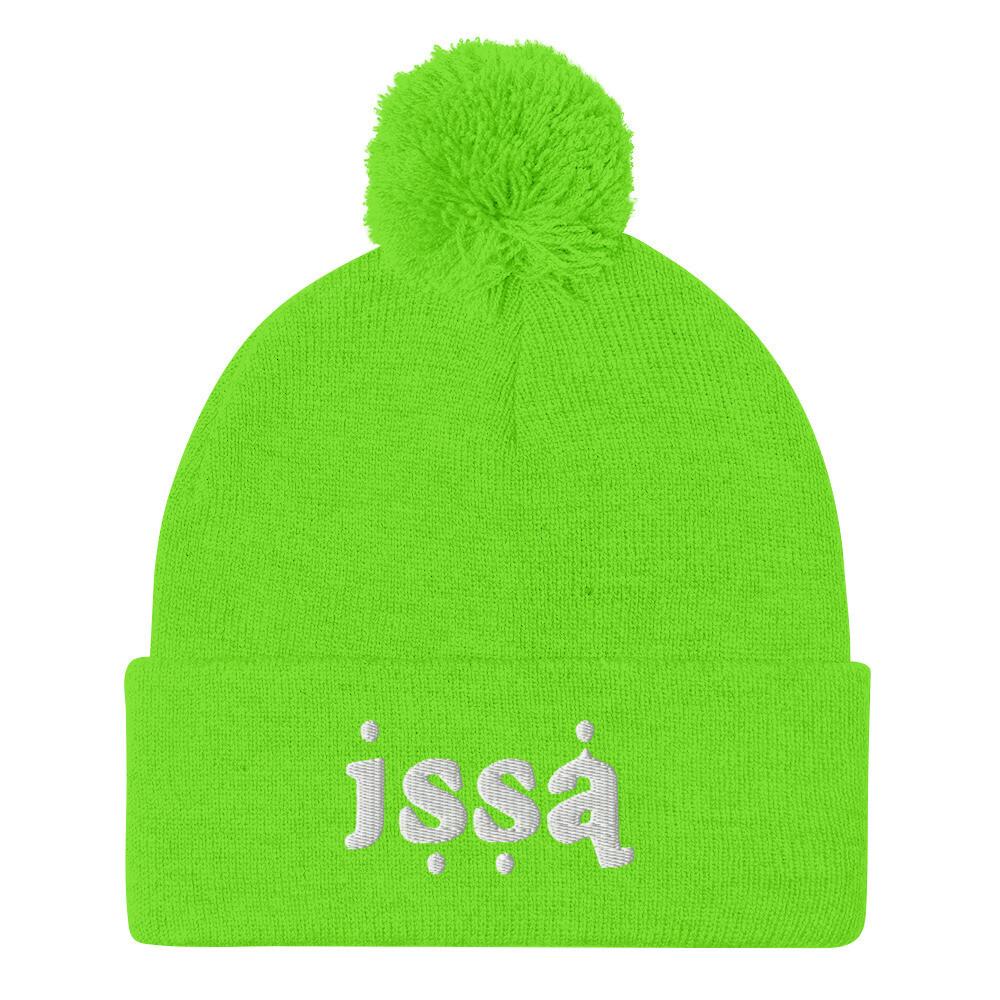 ISSA • Highlighter Pom-Pom Beanies