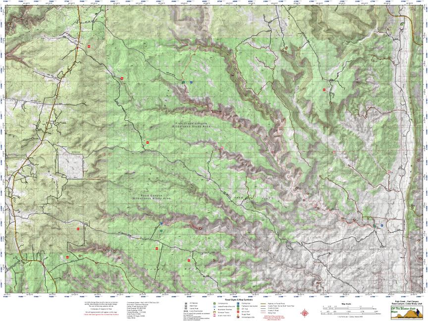 MMap Road Canyon & Fish & Owl Canyon Trails